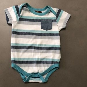 7 For All Mankind  Short Sleeve Onsie 6-8M